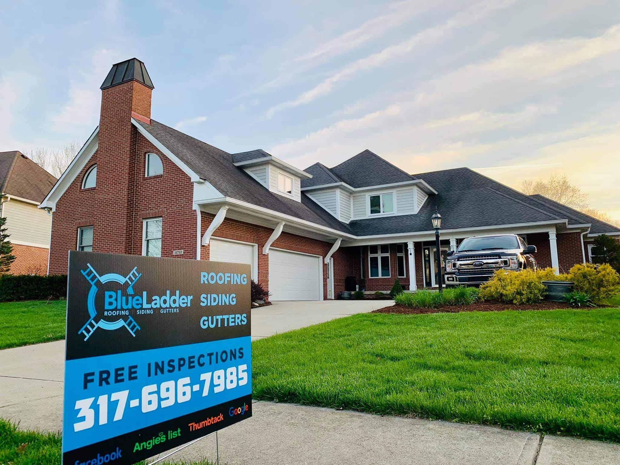 Blue Ladder Roofing Image